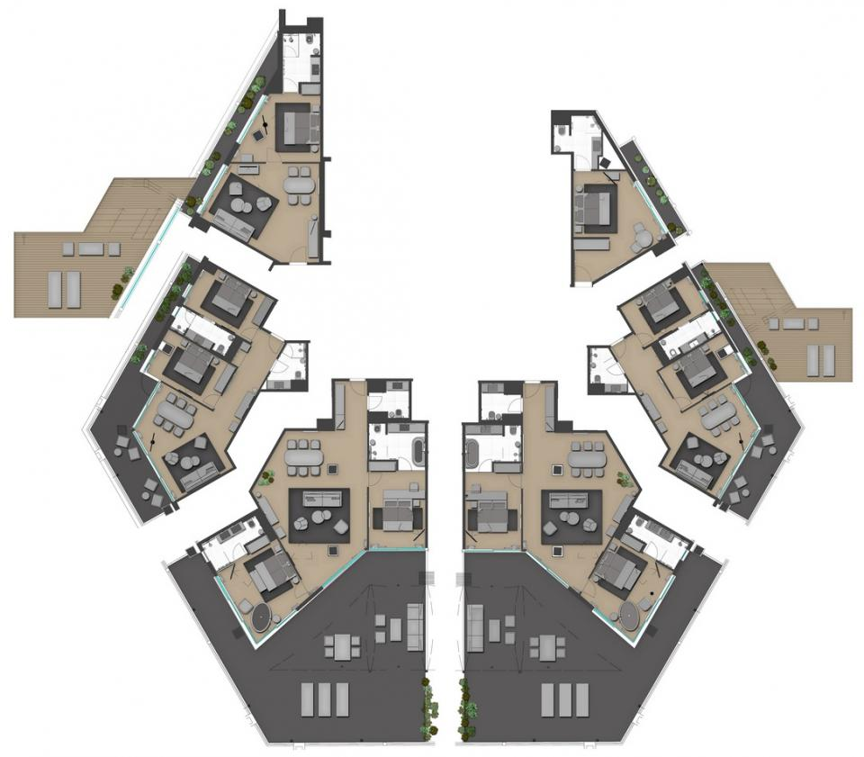 Penthouse One-Bedroom Suite, Terrace, Sea View
