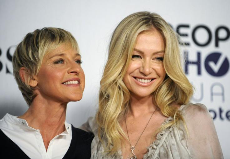Hollywood couple Ellen and Portia