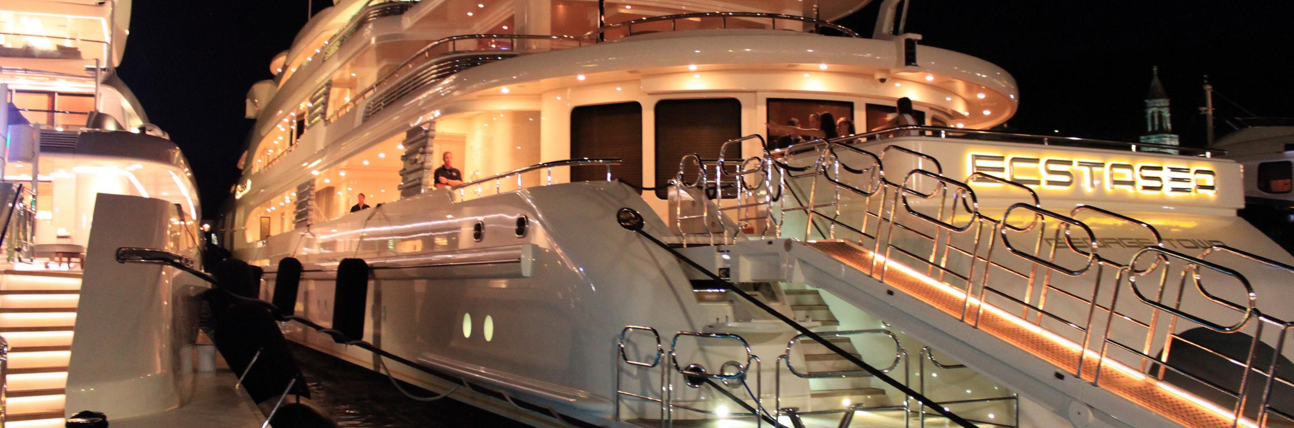 Hvar harbour mega yachts