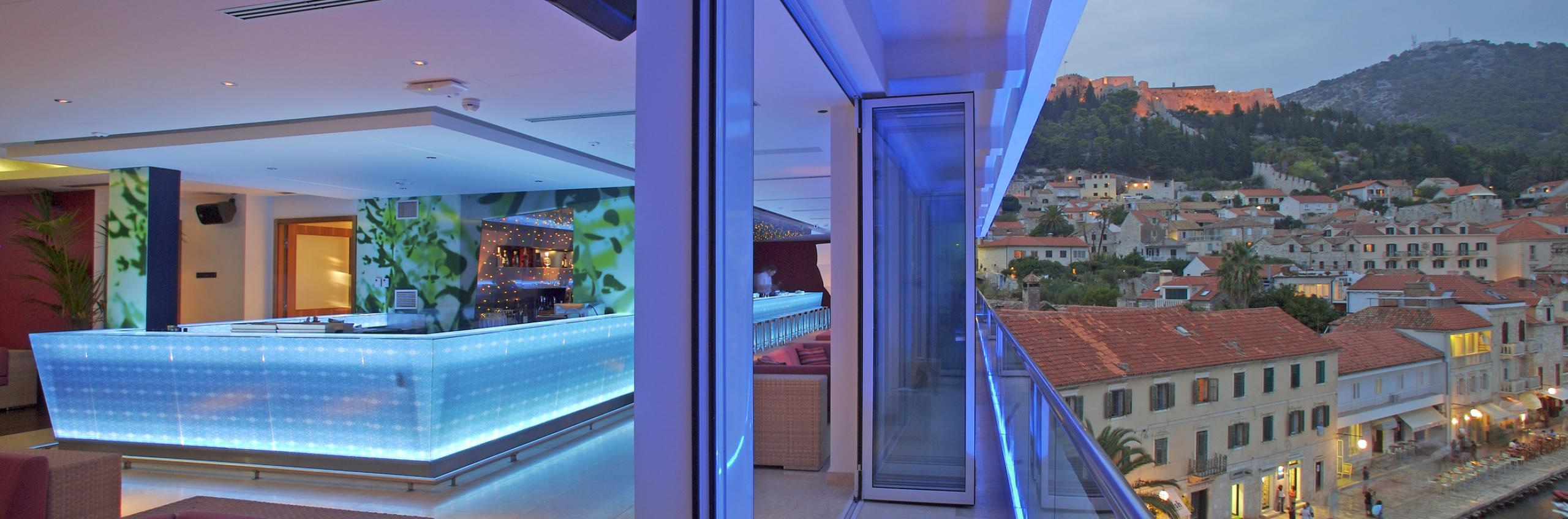 Enjoy breathtaking views from Top Bar, Hotel Adriana