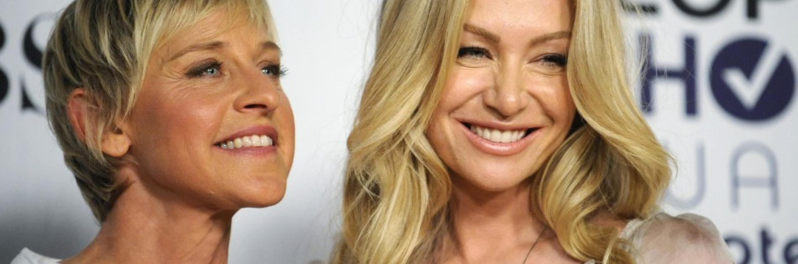 Hollywood couple Ellen and Portia