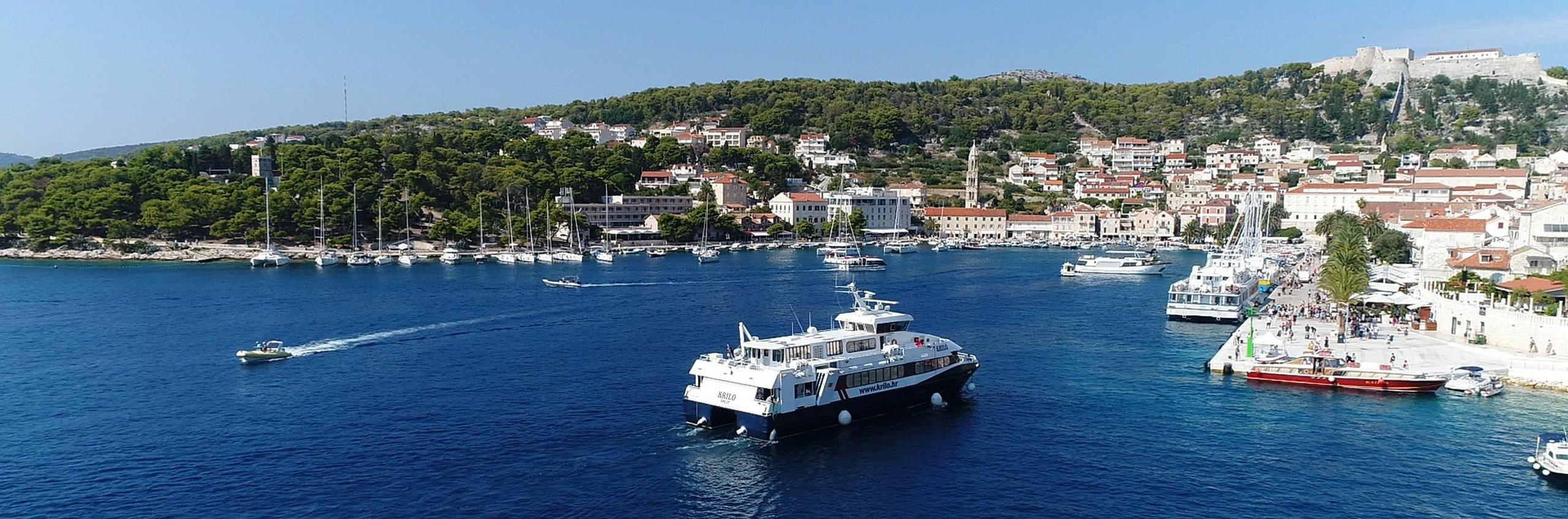 Catamaran Split Hvar Split How To Get To Hvar